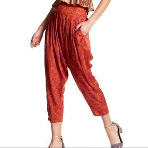 Free People Casablanca Printed Harem Pants